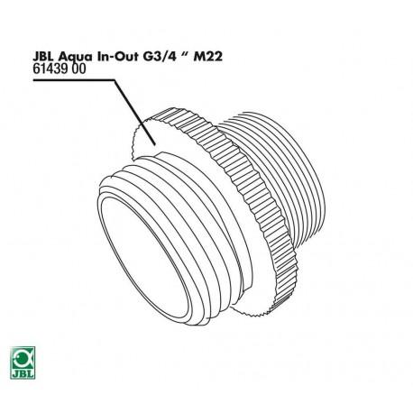 JBL Aqua In-Out Metall Adapter G3/4 M28/M22