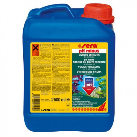 sera pH-minus 2500ml na 10000L