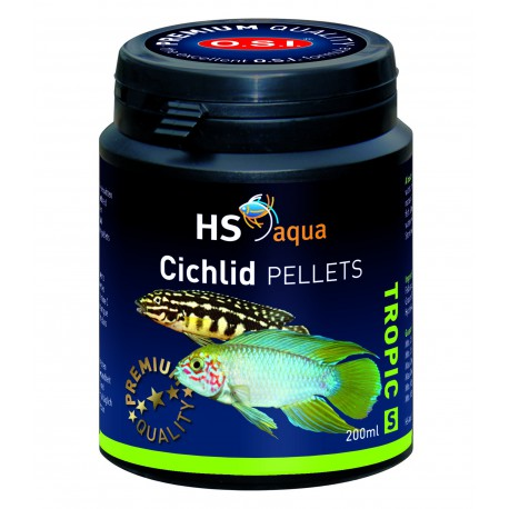 O.S.I. Cichlid pelety S 200 ml