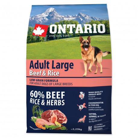 ONTARIO Dog Adult Large Beef & Rice 2.25kg